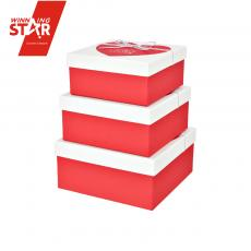 Best wish Square Gift Box Suit 3pcs/set 19*19*9cm 17*7*8cm 15*15*7cm