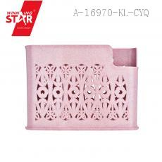 6111 Three-lattice Chopsticks Holder 19.5*6.5*14cm PP