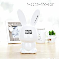 AP1557 Rabbit Money Box 10.1*10.6*22.3cm PS