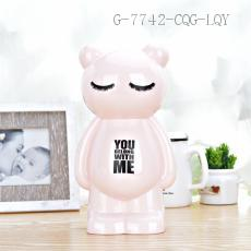 AP1542 Bear Money Box ABS+PS 13.2*10.2*23.5cm