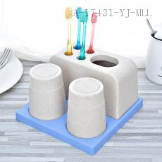 YD-353 Wheat Toothbrush Holder PP 18.5*18.5*10.5cm