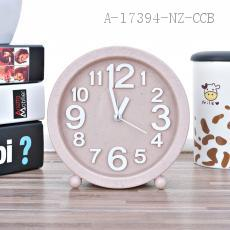 975  Wheat Round Alarm Clock PS 13.8*13.8cm