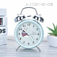 3304 Large Cartoon Alarm Clock 16*10*6cm PS+Iron