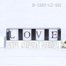YZ5050 LOVE Candles 4pcs/set 5*5cm 376g