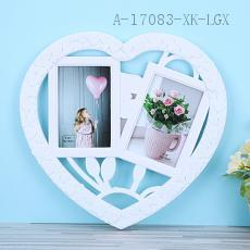 L081 Heart-Shaped Photo Frame 34*37*1.8cm PP
