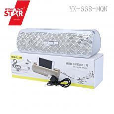 206 Bluetooth Speaker with colored box TF/USB/FM