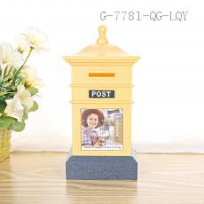 AP1027 Square Post Money Box PS+HIPS 10*10*12.5cm