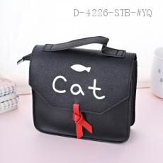 Cat Pattern Storage Bag PU 15.5*17*6.5cm