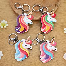 Colorful Unicorn Key Chain 9*6cm 12pcs/bag