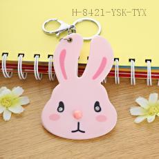 Pink Rabbit Key Chain 9.5*7cm
