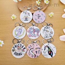Unicorn Pattern Key Chain  7cm 12pcs/bag