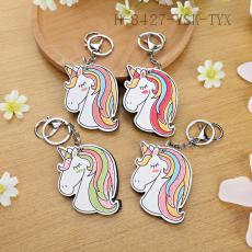 Unicorn Pattern Key Chain 9*6cm 12pcs/bag
