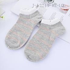 (M1217) Stripe Pattern Socks 2pcs/set 22-24cm