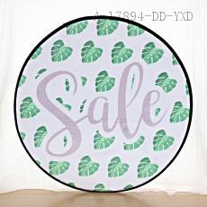 Round Leaves Pattern Floor Mat 60*60cm