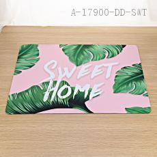 Non-slip Leaves Pattern Floor Mat 40*60cm