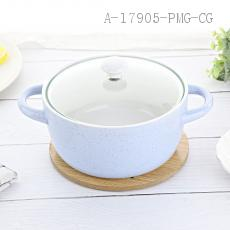 HD-329-2 Ceramic Pot 19.5*14.5cm 750ml