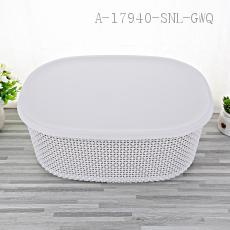 1821 Storage Basket with cover PP 39*29.5*15.5cm 484g