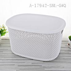 1822 Large Storage Basket with cover 39*29.5*22.5cm PP 556g