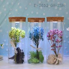 Dried Flower Decoration Craft with light 8*20cm