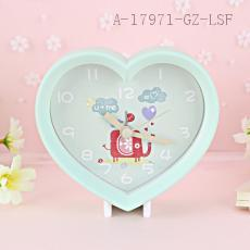 MHT658B Heart-shaped Clock 11.0*4.6*9.6cm