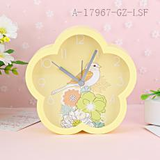 MHT654B Plum-shaped Bird Pattern Clock 13.4*4.0*13.1cm