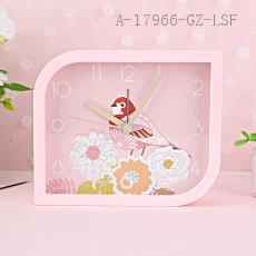 MHT653B Diamond Birds Pattern Clock 13.1*4.0*11.0cm
