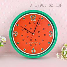 RY891-1-2-3 12 Inch Round Fruit Pattern Clock
