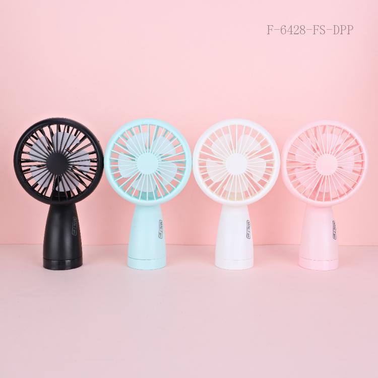 Portable Fan with colored box ABS 10*6*18cm