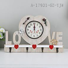 LOVE Wooden Clock 36*22cm