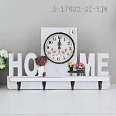 Home Wooden Clock 36*22cm