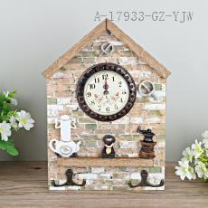 Kitchen Wooden Clock 27*19cm