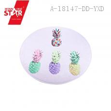 INS Round Pineapple Pattern Floor Mat 90*90cm
