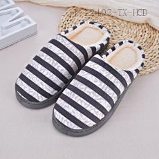 Stripe Pattern Slippers 36/37 38/39 40/41 42/43 44/45
