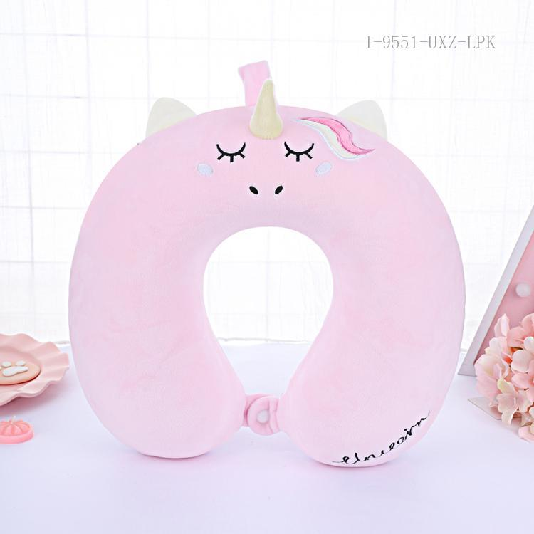 Cartoon Unicorn Pattern U-shaped Pillow 32*29cm