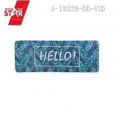 HELLO Green Leaf Pattern Floor Mat 43*116cm