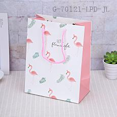 1808-2M Flamingo Pattern Gift Bag 18*23*10cm 12pcs/bag