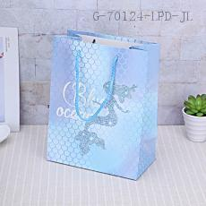 6854-3M Mermaid Pattern Gift Bag 18*23*10cm