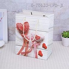 HS1721-1M Heart-shaped Gift Bag 18*23*10cm
