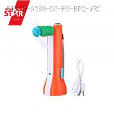 YW-6688 LED Torch Flashlight with usb/v8 interface 15*5cm