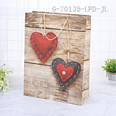 HS1721-1XL Large Heart-shaped Gift Bag 31*42*12cm