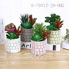 Keyboard Pattern Potted Plant 13*7.5cm