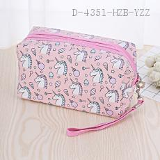 Unicorn Pattern Cosmetic Bag 18*10*10cm