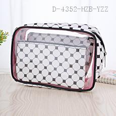 PVC Cosmetic Bag 3pcs/set 23*15*7cm pu+pvc
