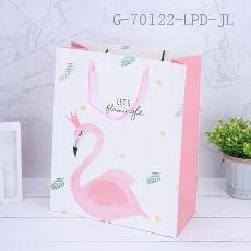 1808-1L Flamingo Pattern Gift Bag 26*32*14cm