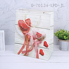 HS1721-1L Heart-shaped Pattern Gift Bag 26*32*12cm