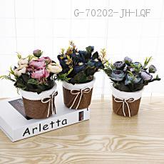 Rose Potted Green Plant 18*10.5cm