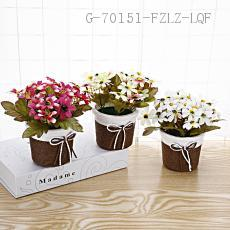 CYY-6 Seven-pointed Flower Green Plant 8*16cm