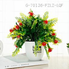 CYY-23 Plastic Potted Plant 20*22cm