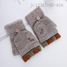 (A-3132)Embroidery Fawn Gloves