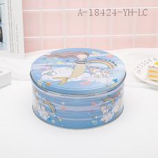 Mermaid Pattern Round Box 3pcs/set 13.5*7cm 16.5*7.5cm 19.5*9cm